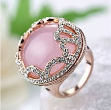 pink crystal rings images Index finger cocktail rings for women pink crystal beautiful ring jpg
