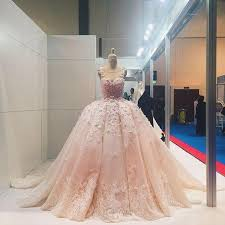 luxury wedding dresses luxury wedding dresses pearl pink gown sweep brush
