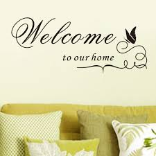 Home Decor Stickers Wall Welcome To Our Home Quote Removable Vinyl Decal Wall Sticker Home