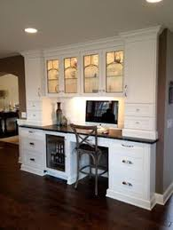 Kitchen Hutch With Desk Built Ins Done Farmhouse Style Would Like This Setup For Entryway
