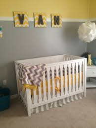 Yellow Baby Room by Baby Nursery Quirky Baby Nursery With Grey And White Bedding For