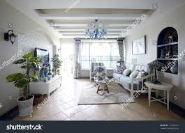 mediterraneanstyle living room interiors stock photo 111829472