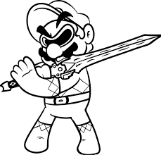 coloring powerger super mario coloring page wecoloringpagegers