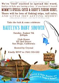 fishing themed printable baby shower invitation