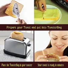 Toasters Toast Toast Eksel Toaster Bags Gluten Free Toasts Reusable Non Stick Fits Any