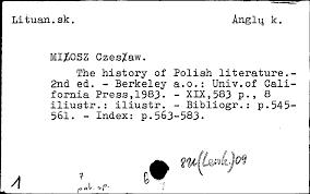 vilnius university library u003e scanned card catalogue u003e publications