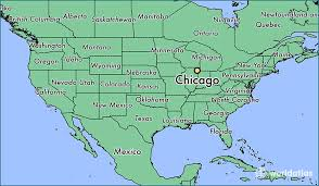 map usa chicago states cities where is chicago il chicago illinois map worldatlas