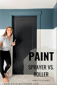 can you paint cabinets with a roller paint sprayer vs rolling when to do what honey built home