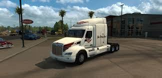 peterbilt and kenworth peterbilt 579 keystone western skin mod american truck simulator