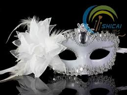 fashion italy venetian mask party masquerade carnival feather