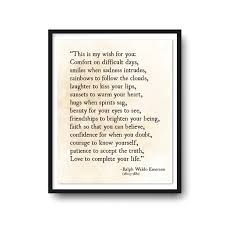 ralph waldo emerson quote print my wish for you