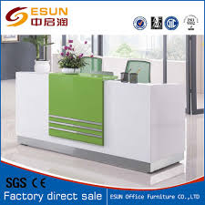 Used Reception Desks by Green Office Wood Front Counter Used Reception Desk Salon
