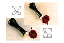 oui set traditional interchangeable sealing wax seal set in solid brass