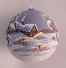 hand painted polish blown glass christmas tree ornament numbered