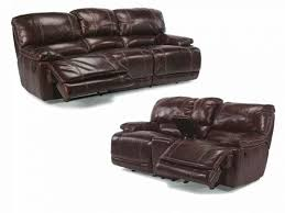 Flexsteel Reclining Leather Sofa Leather Loveseat Recliner Electric Wallace Leather Power Reclining