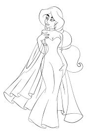 download jasmine in wedding dress disney princess coloring pages