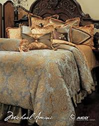Red Gold Comforter Sets Amazon Com Michael Amini 13 Piece Woodside Park Comforter Set