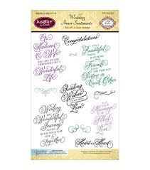 Wedding Sentiments Justrite Papercraft Clear Stamps Wedding Inner Sentiments Joann