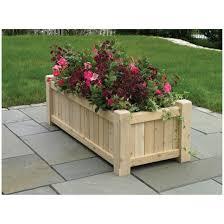garden decor contemporary rectangular wooden outdoor planter