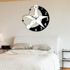 living room wall clock inch creative star wall clock modern design living room kids room