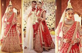 wedding dress maroon sabyasachi bridal lehenga an indian girl s