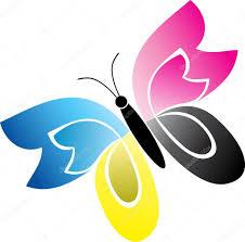 Cmyk Spectrum Cmyk Butterfly U2014 Stock Vector Magagraphics 9859724