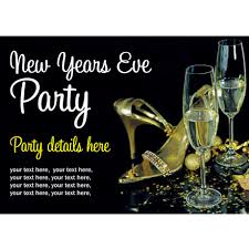 classy black background colors with new years eve invitation
