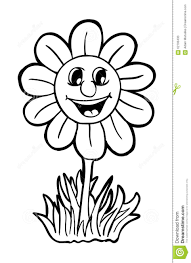 sunflower with smile stock vector image 62790433