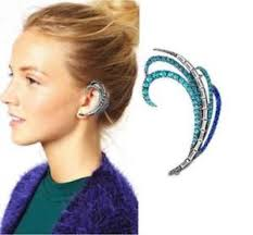ear cuff hot fashion diamond feather ear cuff style earring ear wrap arc ebay
