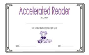 templates for award certificate printable accelerated reader award certificates best 10 templates