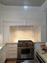Large Tile Kitchen Backsplash Kitchen White Kitchen Tiles Brown Kitchen Cabinets Kitchen Tile