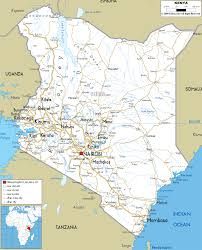 geographical map of kenya detailed clear large road map of kenya ezilon maps