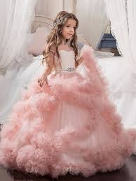 flower girl dresses fashion gown floor length sleeves tulle