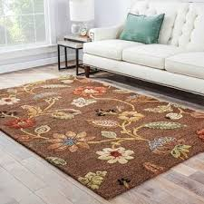 bloomsbury handmade floral brown multicolor area rug 5 u0027 x 8