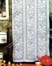 Crochet Curtain Designs шторы связанные крючком Gardinenhäkelmuster Pinterest