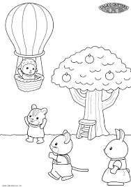 calico critters coloring pages kids coloring