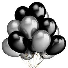 black balloons party balloon decorations 100 pack 12 inches silver