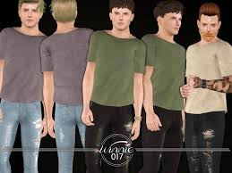 sims 3 men custom content basic linen t shirt for male sims found in tsr category sims 3 male