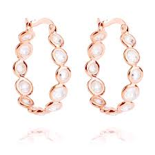 gold hoop earrings uk ingenious gold multi hoop earring
