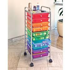 amazon com seville classics 10 drawer organizer cart multi color