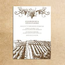 brown rustic vineyard wedding invitations vintage grapevine