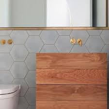 light grey hexagon tile hex tile backsplash design ideas