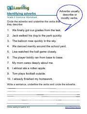 grammar worksheet grade 1 verbs 3 pdf identifying verbs and