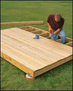 Free Online Deck Design Home Depot Steps To Build A Ground Level Deck At The Home Depot Landscaping