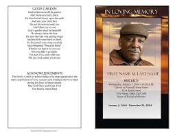 Free Funeral Programs Funeral Program Template Brown Sunset