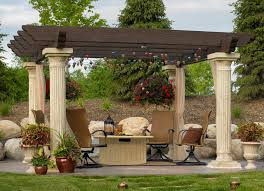 Living Trellis Traditional Landscape And Yard With Exterior Stone Floors By