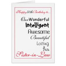 sisters 50th birthday greeting cards zazzle