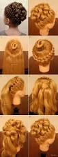 elegant braiding hairstyle with curls diy hair style updos