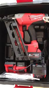 milwaukee 2nd fix nail gun with 1x 5 0 battery in ramsgate kent
