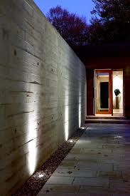 wall wash lighting entry modern with ipe cladding external lights